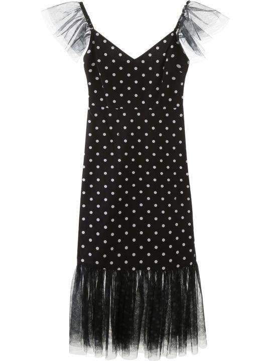 STAUD Marwa Polka Dot Midi Dress