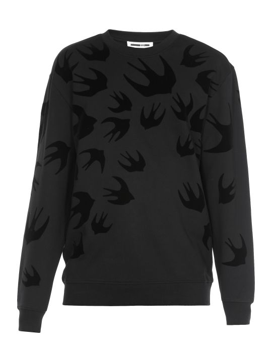 McQ Alexander McQueen Swallow Swarm Print Sweater