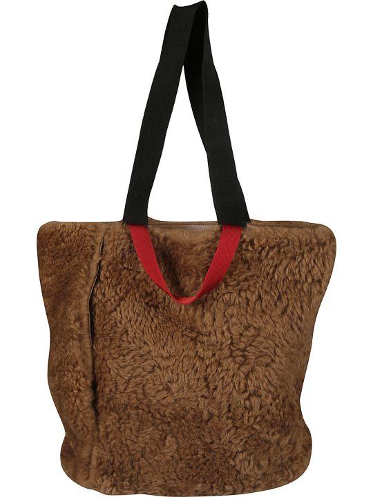 Plan C Fur Applique Shopper Bag