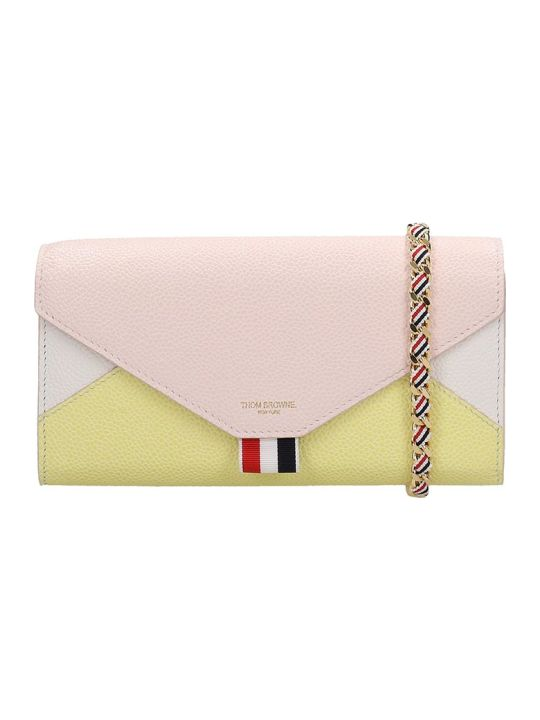 Thom Browne Wallet In Rose-pink Leather