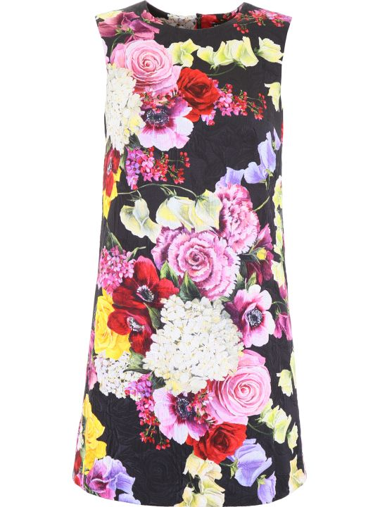 Dolce & Gabbana Hortensia And Floral Print Dress