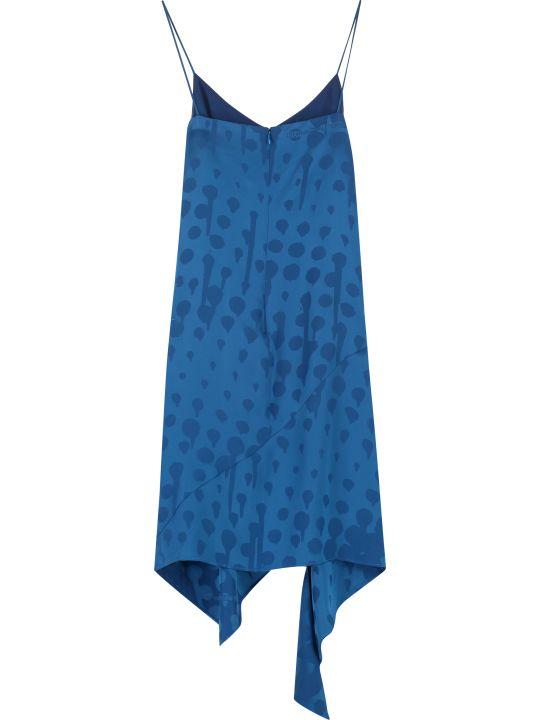 Off-White Jacquard Fabric Dress