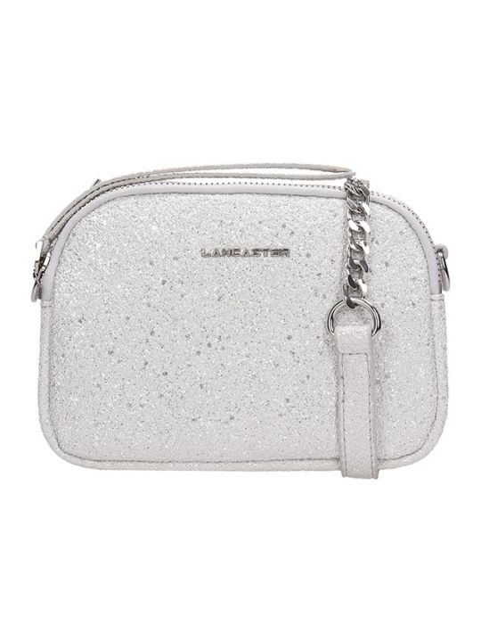Lancaster Paris Silver Glitter Mini Crossbody Bag