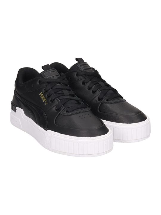 Puma Cali Sport  Sneakers In Black Leather