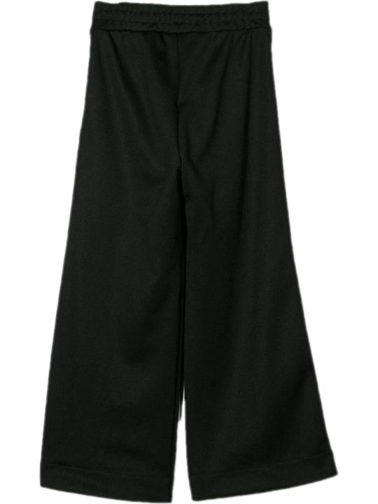 Fendi Black Ff Trim Pants