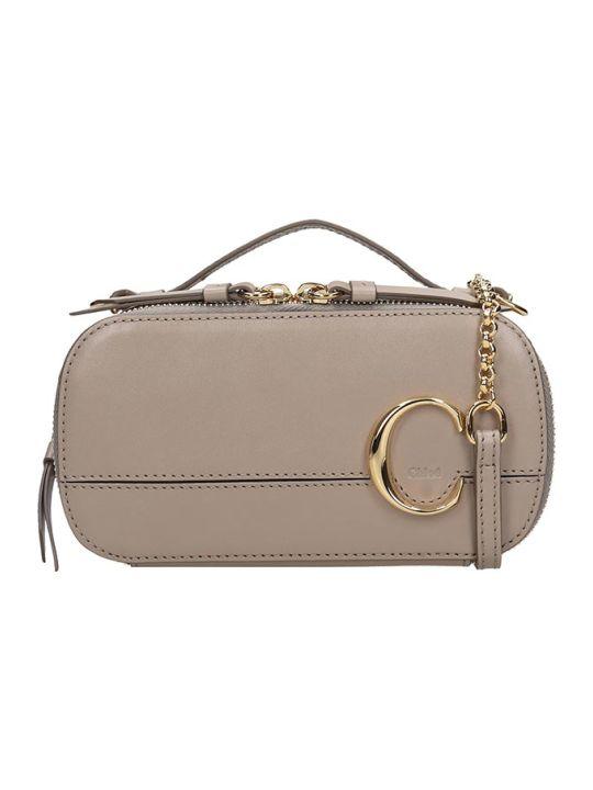 Chloé Chloe C Vanity Shoulder Bag In Grey Leather