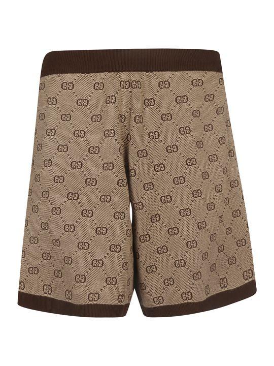 Gucci Gg Jacquard Knit Shorts
