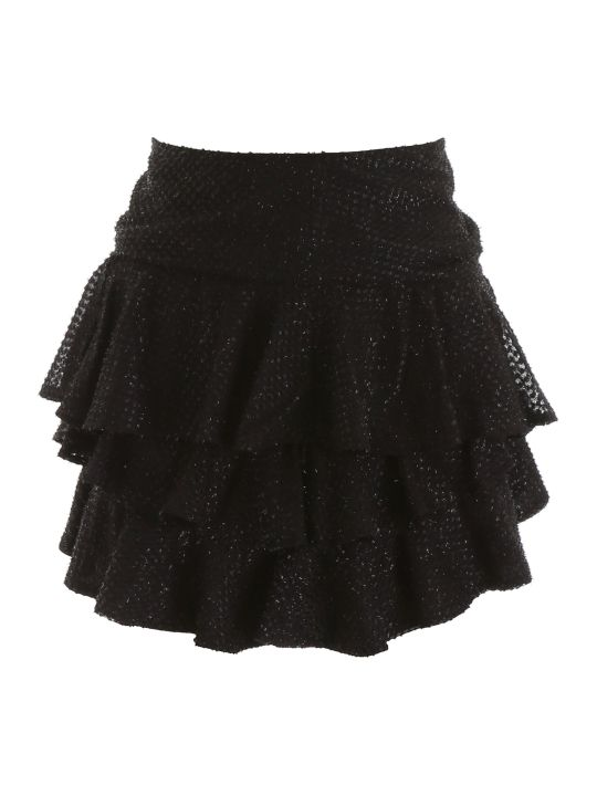 WANDERING Lurex Mini Skirt