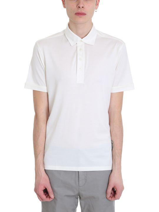 Ermenegildo Zegna White Cotton Polo