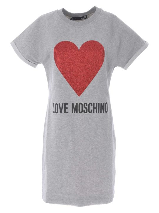 Love Moschino Heart Print T-shirt