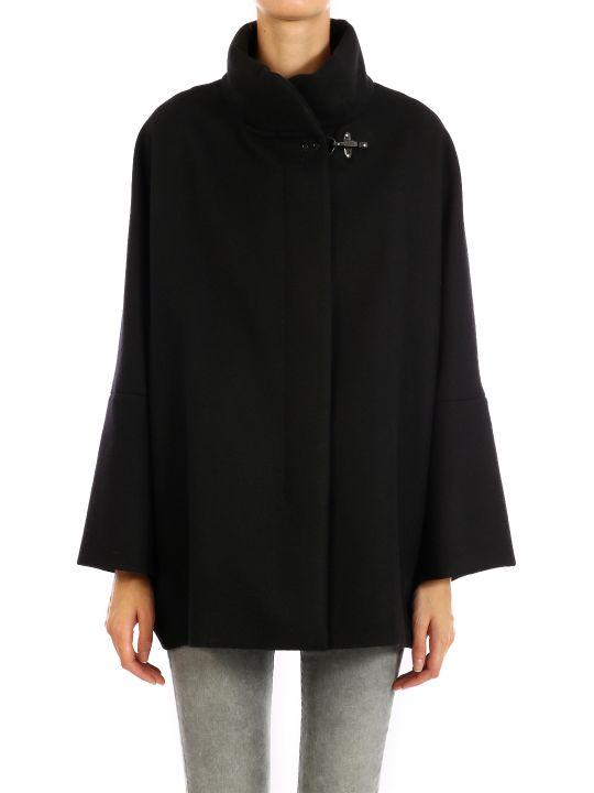 Fay Black Wool Coat