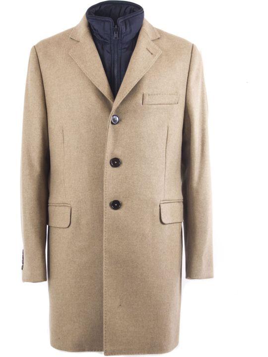 Fay Camel Cashmere Wool Blend Coat