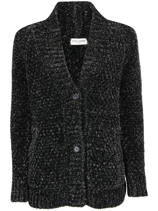 Saint Laurent Chenille Lurex Cardigan