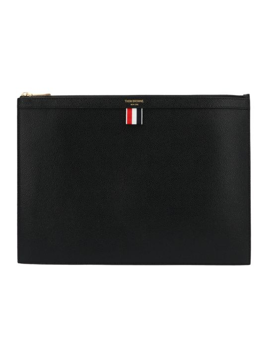 Thom Browne 'medium Gusset Zip Folio' Bag