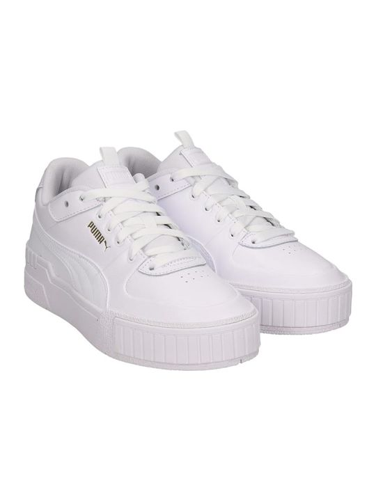 Puma Cali Sport  Sneakers In White Leather