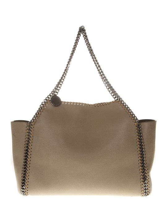 Stella McCartney Cream Feaux-leather Falabella Tote Bag