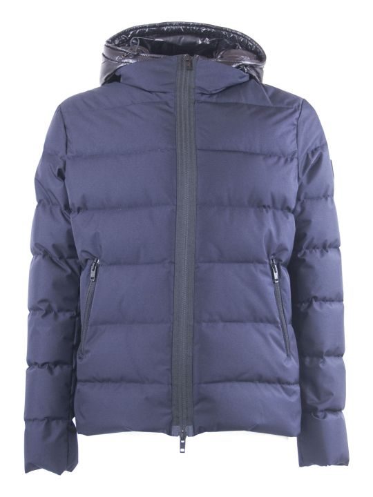 Fay Blue Hooded Down Jacket