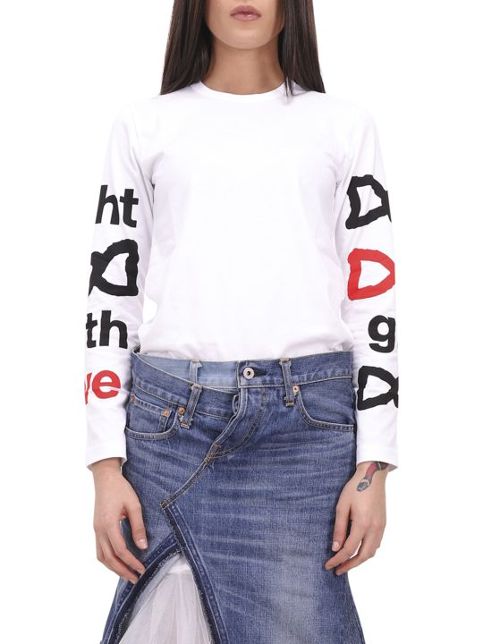 Comme Des Garçons Girl Fight With Love T-shirt