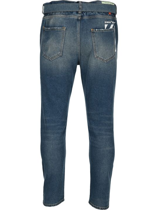 Off-White Off White Slim Low Crotch Jeans