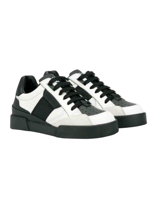 Dolce & Gabbana Black And White Dolce And Gabbana Kids Sneakers
