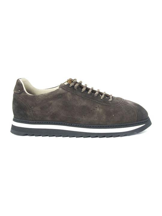 Doucal's Sneakers In Brown Suede