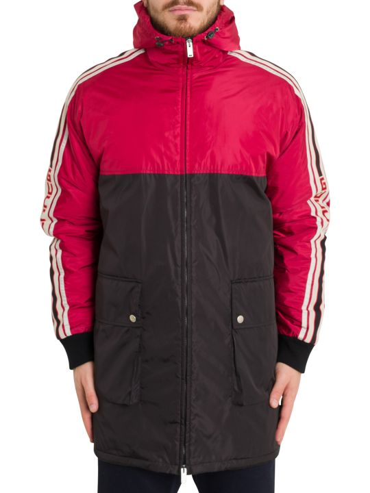 Gucci Nylon Coat With Gucci Stripe
