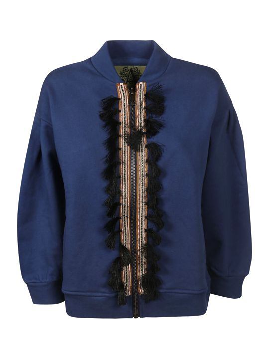 Alessandra Chamonix Feather Detailed Cardigan