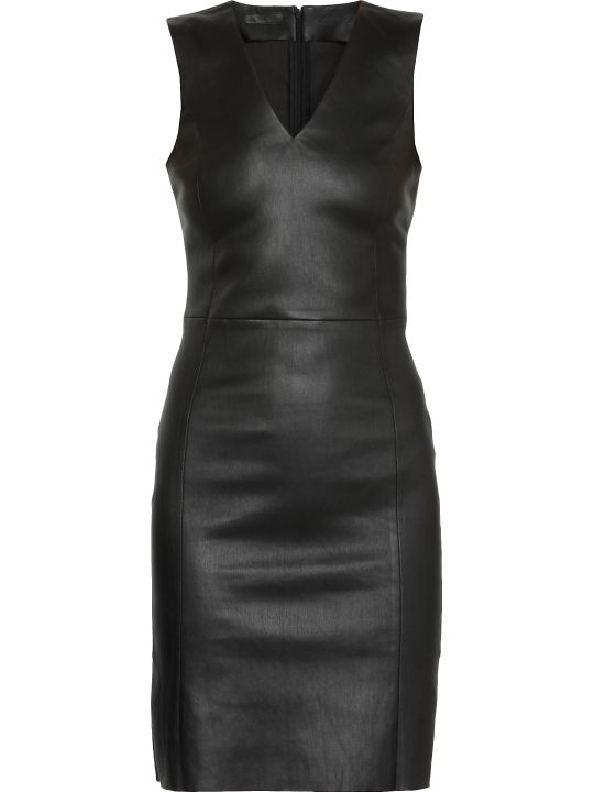 DROMe Leather Stencil Dress
