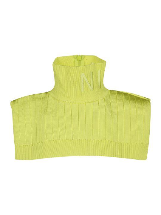 Nina Ricci Ribbed Collar