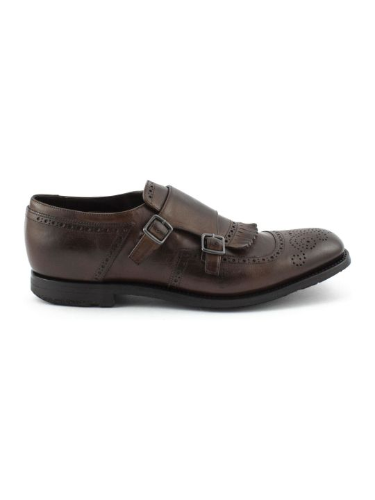 Church's Brown Smooth Leather Shanghai Monk Shoes.