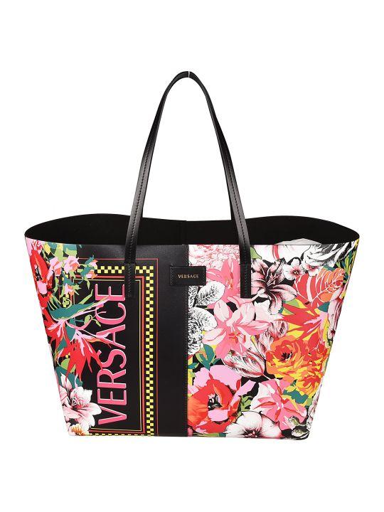 Versace Floral Print Tote