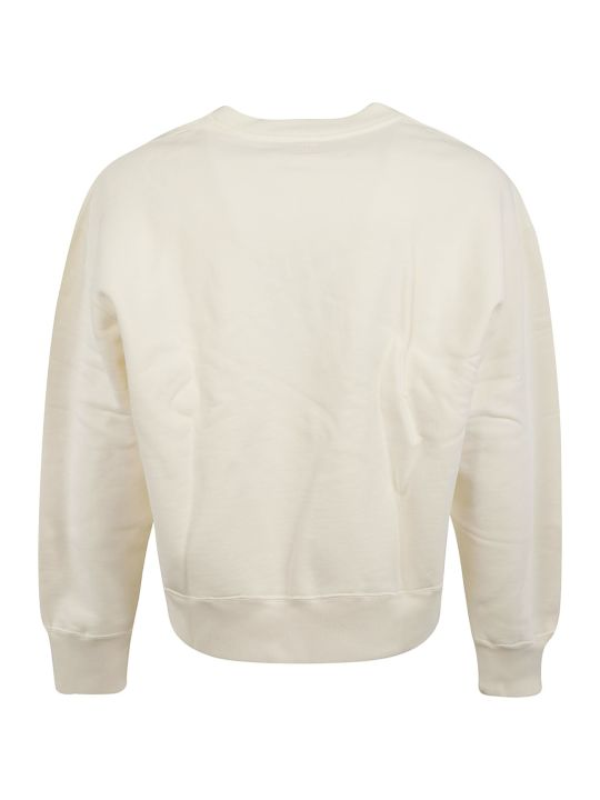 Ami Alexandre Mattiussi Embroidered Cropped Sweatshirt