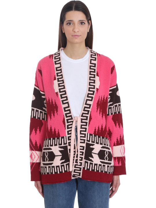 Alanui Icon  Cardigan In Rose-pink Cotton