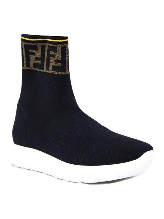 Fendi Black Ff Sneakers