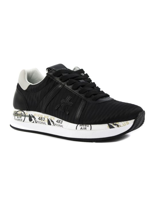 Premiata Conny Sneaker In Black Fabric