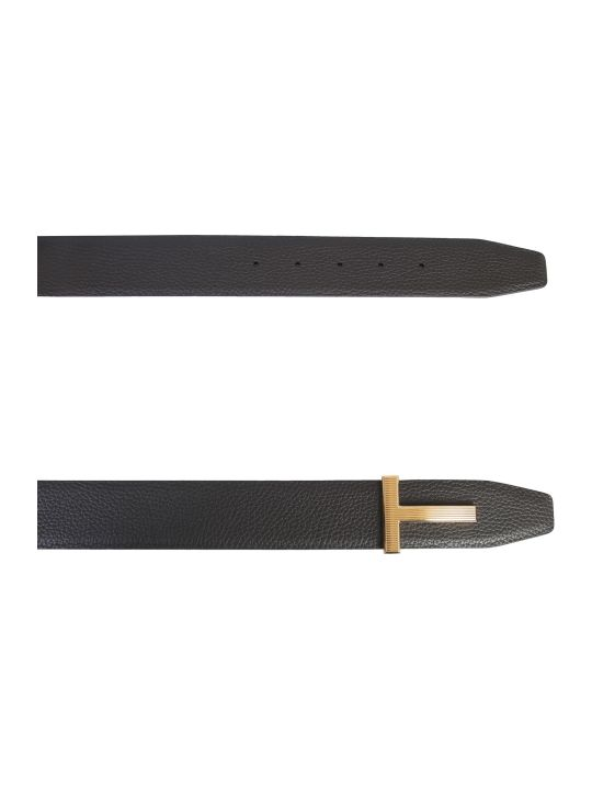 Tom Ford Leather Belt With Logo