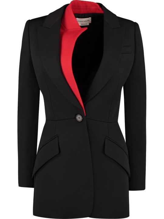 Alexander McQueen Stretch Virgin Wool Blazer
