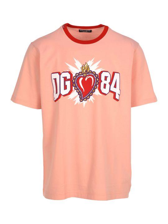 Dolce & Gabbana Dolce&gabbana Tshirt Logo Cuore Sacro