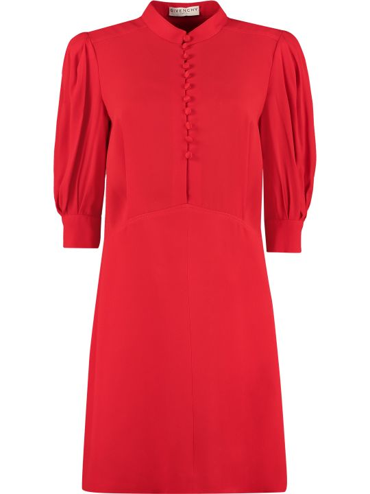 Givenchy Mandarin Shirt Collar Dress
