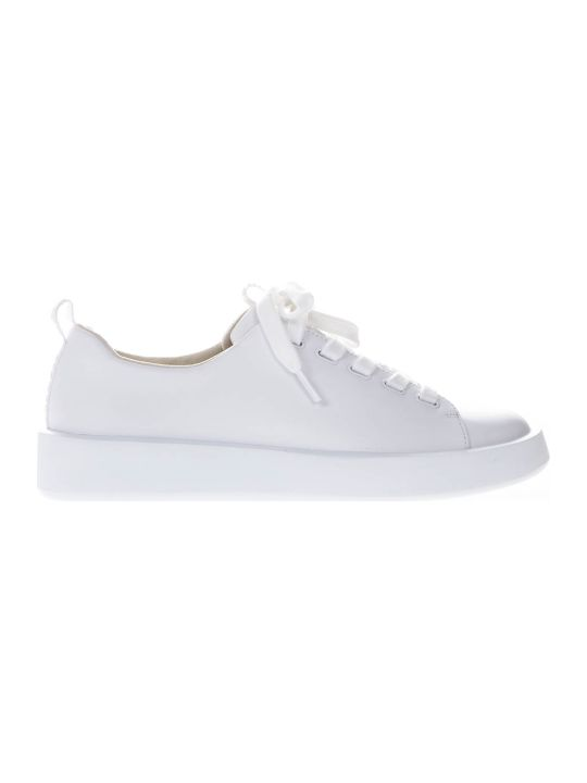 Camper Courb White Leather Sneakers