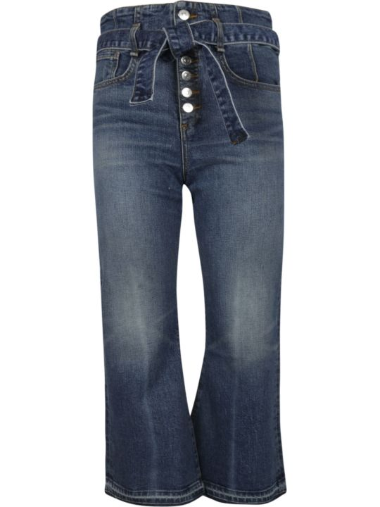 Veronica Beard Cropped Flared Jeans