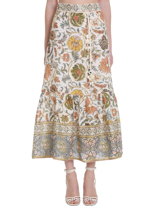 Zimmermann Edie Skirt In Multicolor Cotton