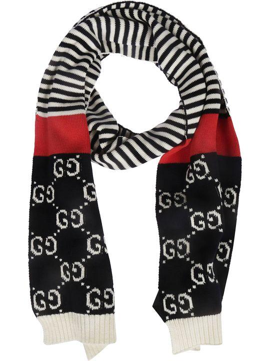 Gucci Intarsia Gg Scarf
