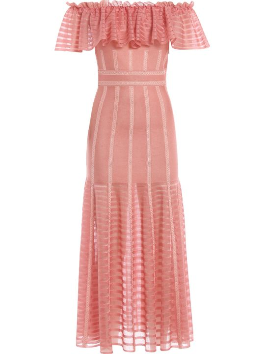 Alexander McQueen Off-shoulder Ruffled Dress