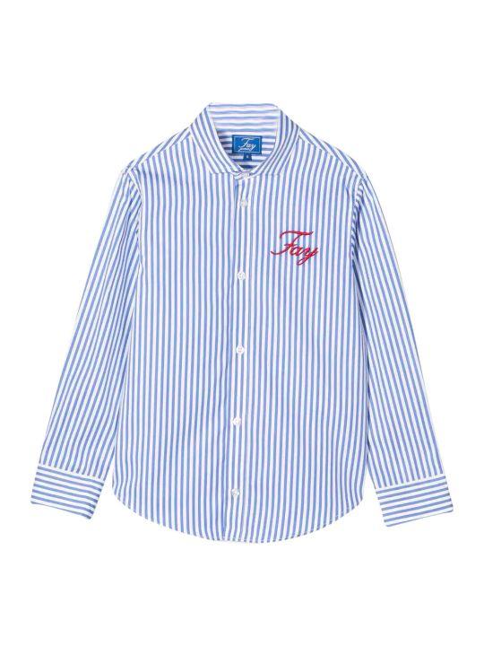 Fay Teen Striped Shirt