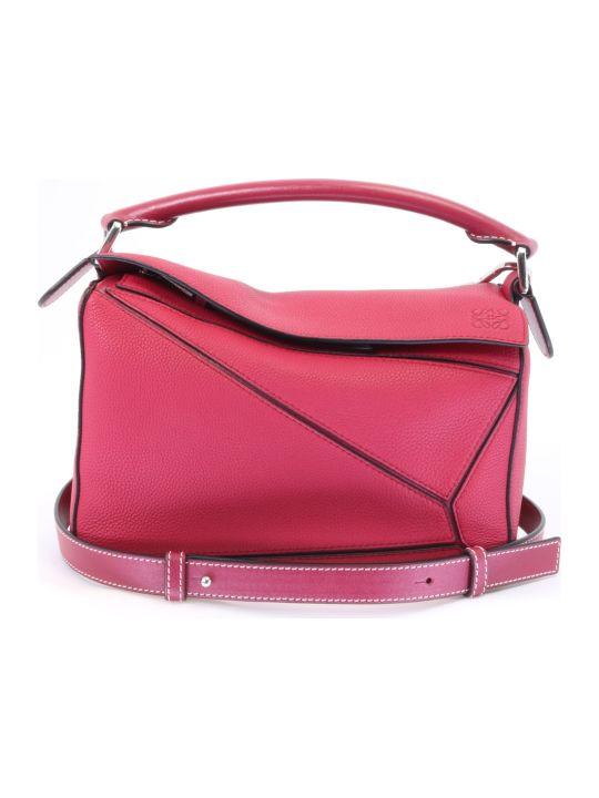 Loewe Puzzle Small Bag Raspberry