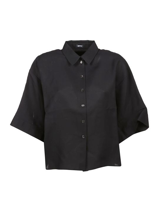 Jil Sander Navy Three Quarter Sleeve Shirt