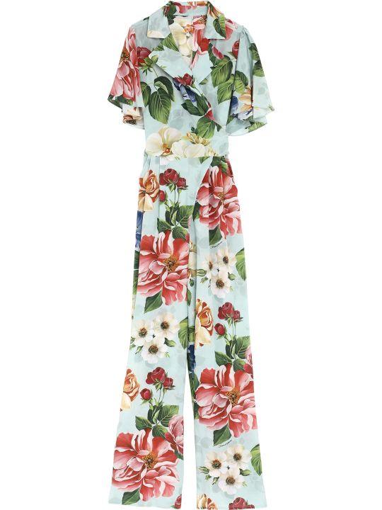 Dolce & Gabbana Silk Printed Jumpsuit