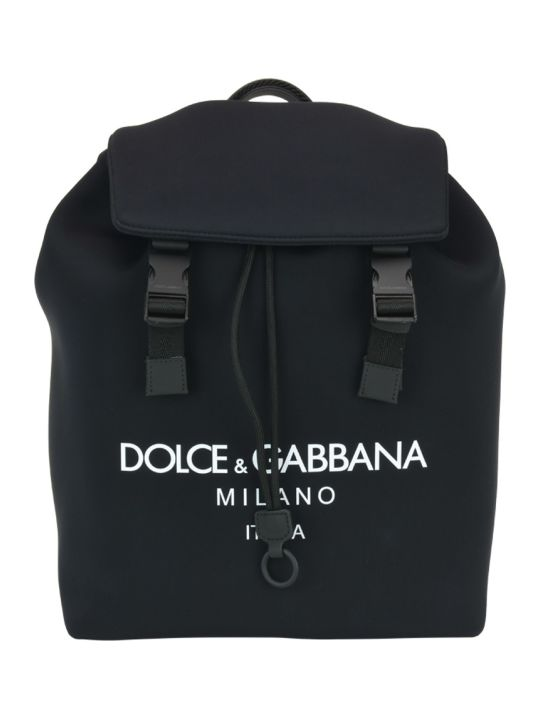 Dolce & Gabbana Palermo Neoprene Backpack With Logo