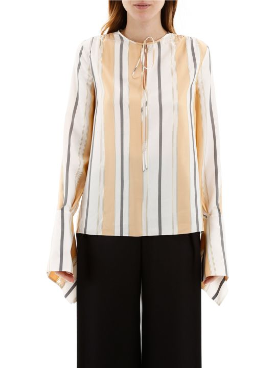 Lanvin Striped Silk Blouse